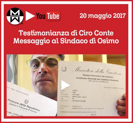 Testimonianza di Ciro Conte | Messaggio al sindaco di Osimo