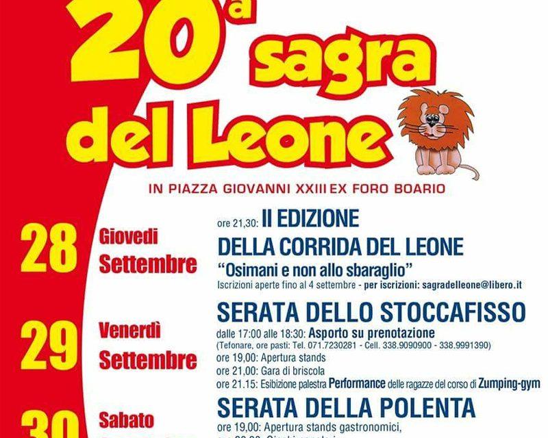 28 settembre - 1° ottobre - 20° sagra del Leone