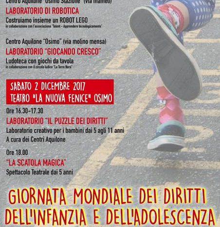 20 novembre - 2 dicembre - Giornata mondiale diritti infanzia