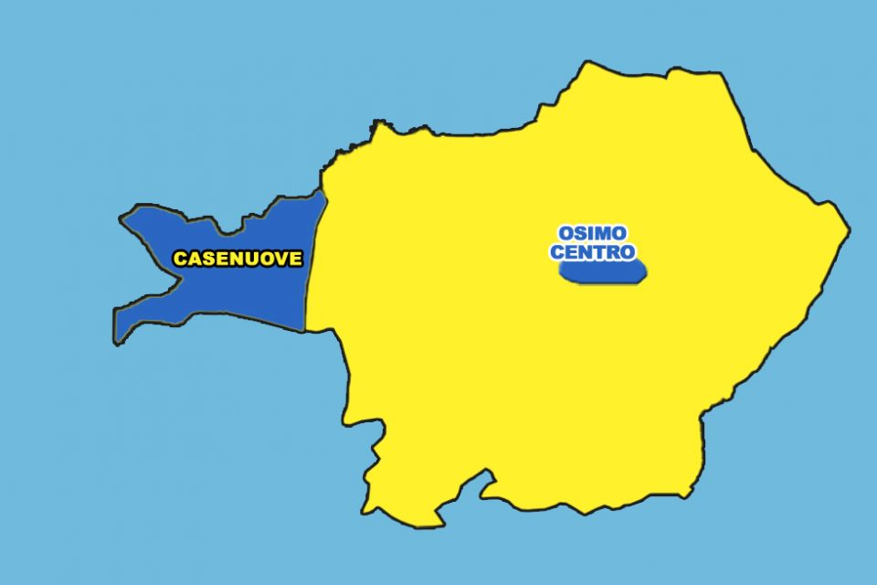 OSIMO STAZIONE IN MANO AI GRILLINI (44.19%)<br> CASENUOVE E CENTRO STORICO ALLA DESTRA<br> PD OUT BORGO, PADIGLIONE, CAMPOCAVALLO