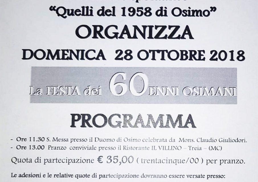 28 ottobre - Quelli del 1958 di Osimo