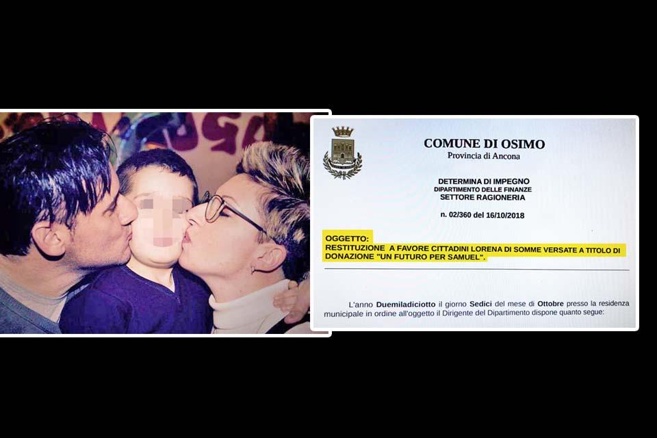 DONAZIONI PRO SAMUEL, PUGNALONI RESTITUISCE I SOLDI!<br> A RICHIESTA, 360 EURO STORNATI INDIETRO AL MITTENTE...
