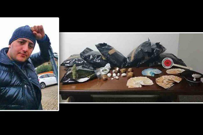 TRAFFICANTE ALBANESE ARRESTATO A PADIGLIONE<br> DETENEVA MEZZO KG. DI COCA E QUASI 7 KG. DI FUMO